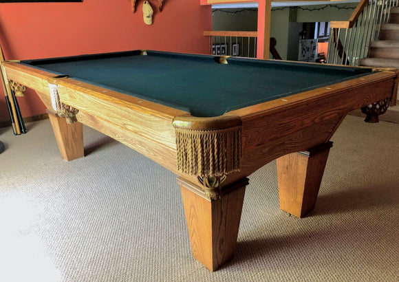 PREOWNED 8' BRUNSWICK CONTENDER POOL TABLE INSTALLED WITH ACCESSORIES