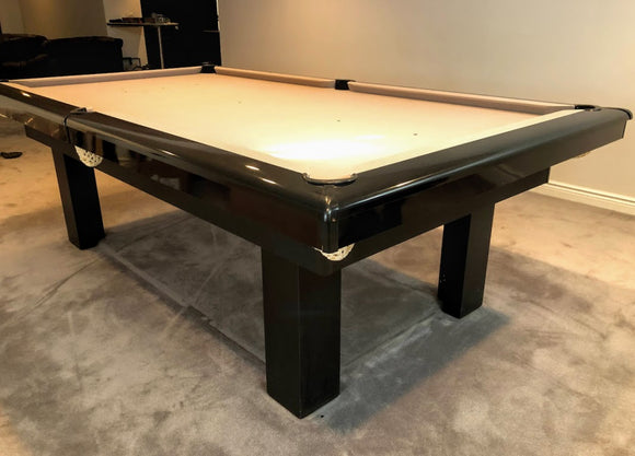8' PREOWNED DUFFERIN SLATE POOL/SNOOKER TABLE INSTALLED WITH ACCESSORIES