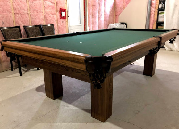 PREOWNED 9' DUFFERIN REGAL SLATE POOL/SNOOKER TABLE INSTALLED WITH ACCESSORIES
