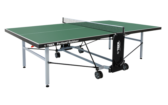 TIGER PORTLAND OUTDOOR TENNIS TABLE WITH NET SET (6MM THICK)