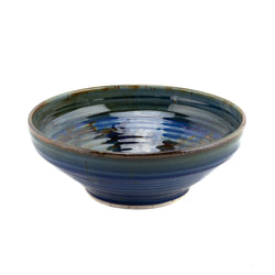 Holbrook Stoneware - Medium Stoneware (Ceramic) Serving Bowl, Pastel Blue