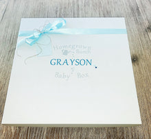 Load image into Gallery viewer, Personalised Keepsake Gift Box: Wrapped in our signature personalised keepsake box, each letter is created in premium vinyl and placed in the centre of the box.