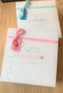 Its all in the name. Mark this beautiful occasion with a personalised baby gift box.
