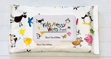 Load image into Gallery viewer, Messy Kids wipes. Perfect for any parent on the go with little ones