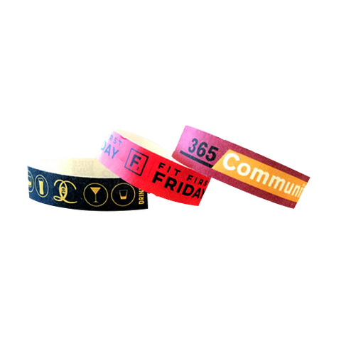 Printed Tyvek Wristbands
