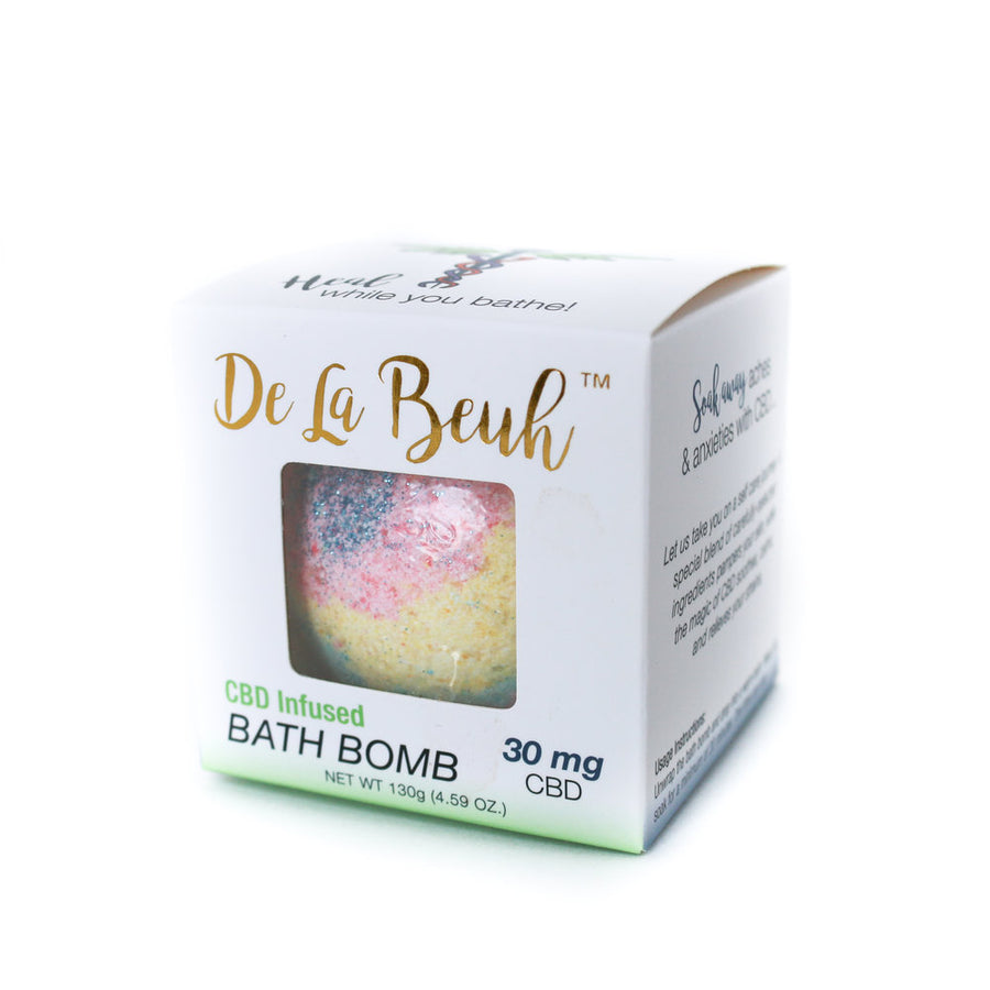 CBD Oil Kaleidoscope Bath Bomb by De La Beuh