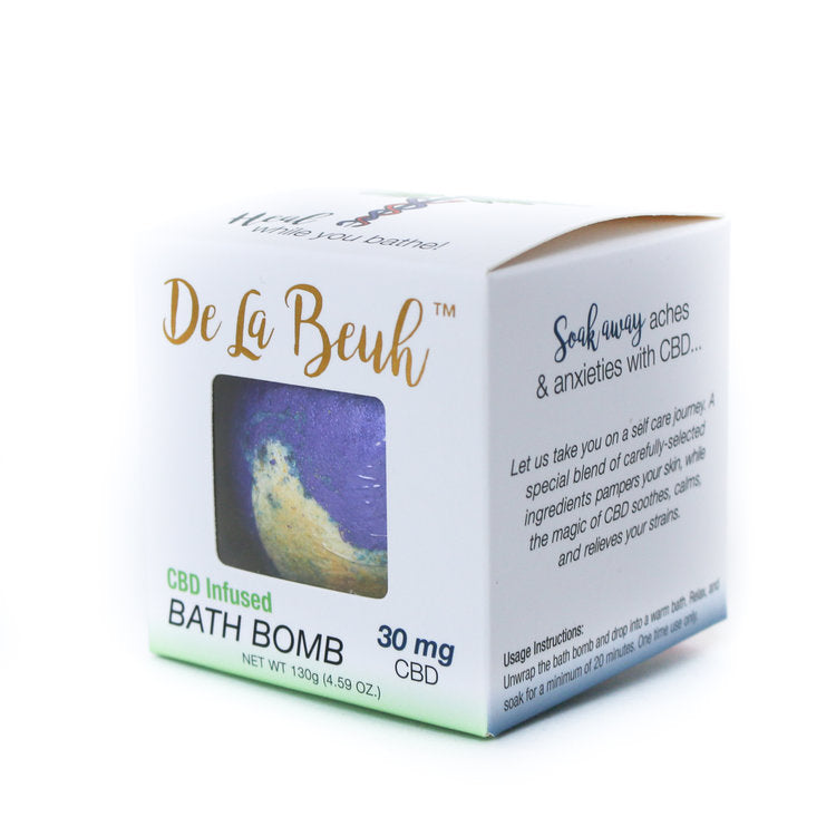 CBD Oil Midnight Bath Bomb by De La Beuh