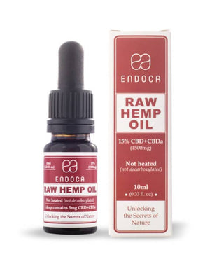 Raw Hemp Oil Drops by Endoca 300 - 1500 MG CBD