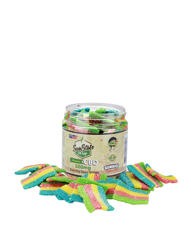 Sun State Sour Gummy Strips 500 MG