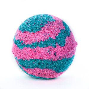 Grapefruit Swirl CBD Bath Bomb by De La Beuh