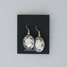 Oval Stamped Earrings