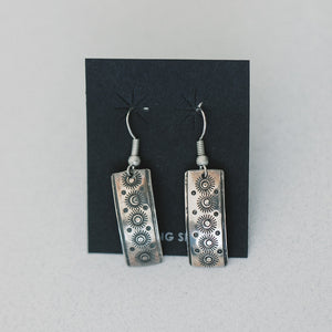 Rectangle Stamped Earrings