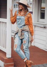 PAPER HEART DENIM OVERALLS