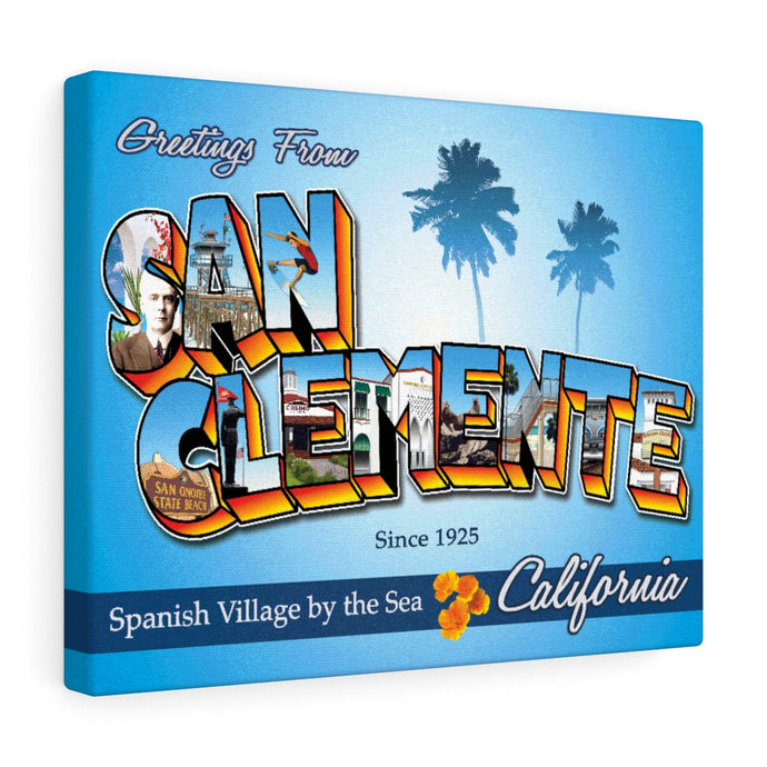 Greetings from San Clemente - Canvas Art