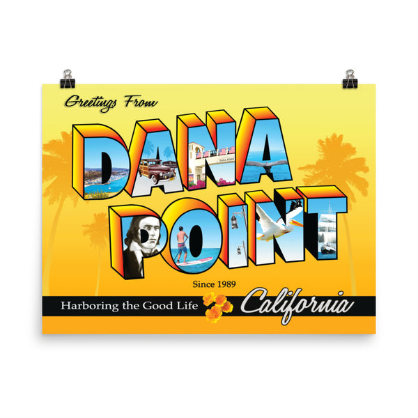 Greetings from Dana Point - Poster