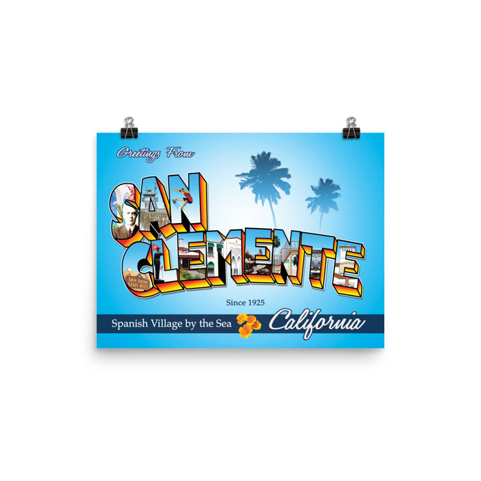 Greeting from San Clemente - Poster