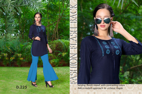 Rangila Tops - Long Sleeves - Dark Blue