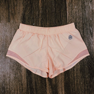 RoseFit Coral Track Shorts