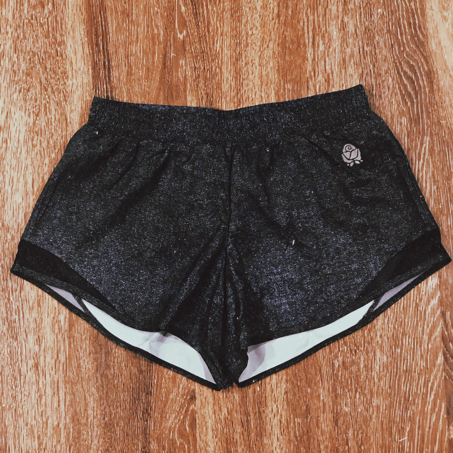 RoseFit Marbled Grey Track Shorts