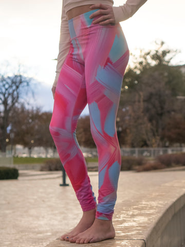 RoseFit Pastel Painting Leggings