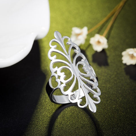 Stainless Steel flower ring - www.keclos.com