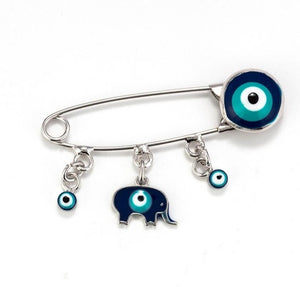 Blue Evil Eye Brooch & Pin - www.keclos.com