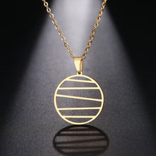 Stainless Steel Lines Necklace - www.keclos.com