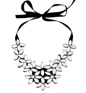Crystal Flower Necklace - www.keclos.com