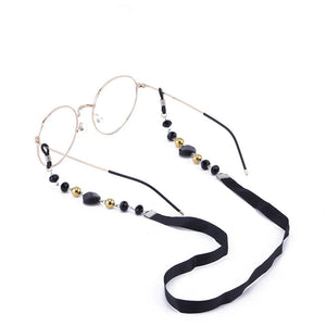 Black Acrylic Beads Eyeglass Chain