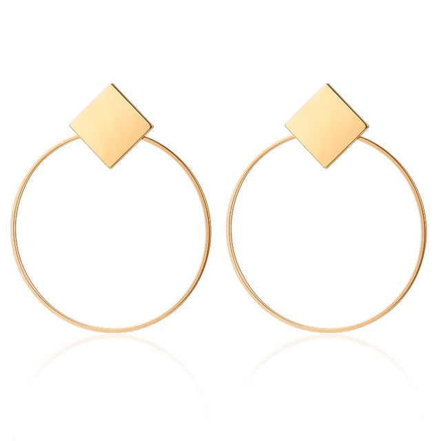 Chic circle earrings