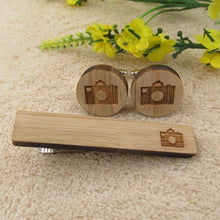 Wooden Set of Cufflinks and Ties Clip - www.keclos.com