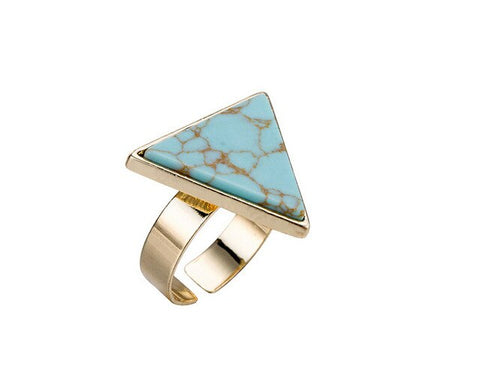 Triangle Marble Ring - www.keclos.com