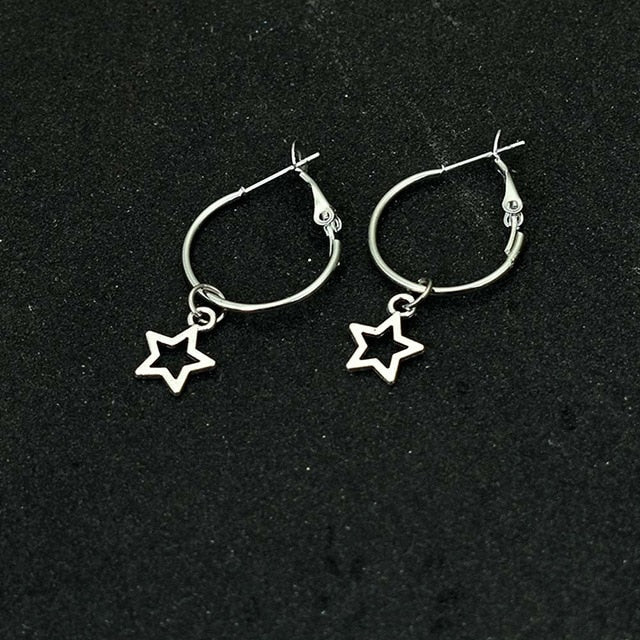 Star dangle earrings - www.keclos.com