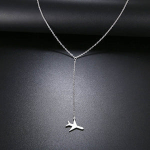 Airplane stainless steel pendant - www.keclos.com