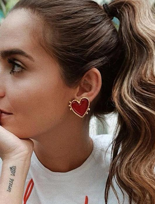 Red Heart earrings - www.keclos.com