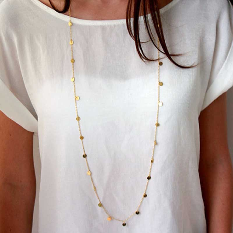 Gold Coin Necklace - www.keclos.com