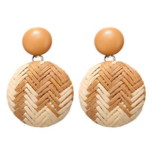 Rattan dangle earrings