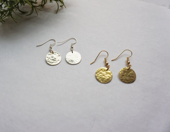 Luna Earrings-Silver & Gold