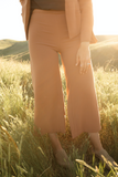 High Waisted Culotte Dress Pant in Desert Rose