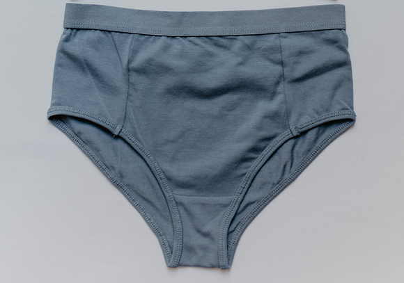 High Waist Brief-Blue Mirage