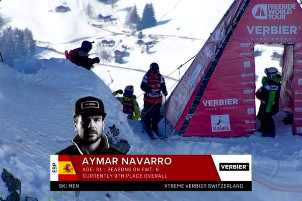 Aymar Navarro is third in the final of the Freeride World Tour in Verbier