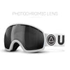 White / Black Vertical Ski Goggles