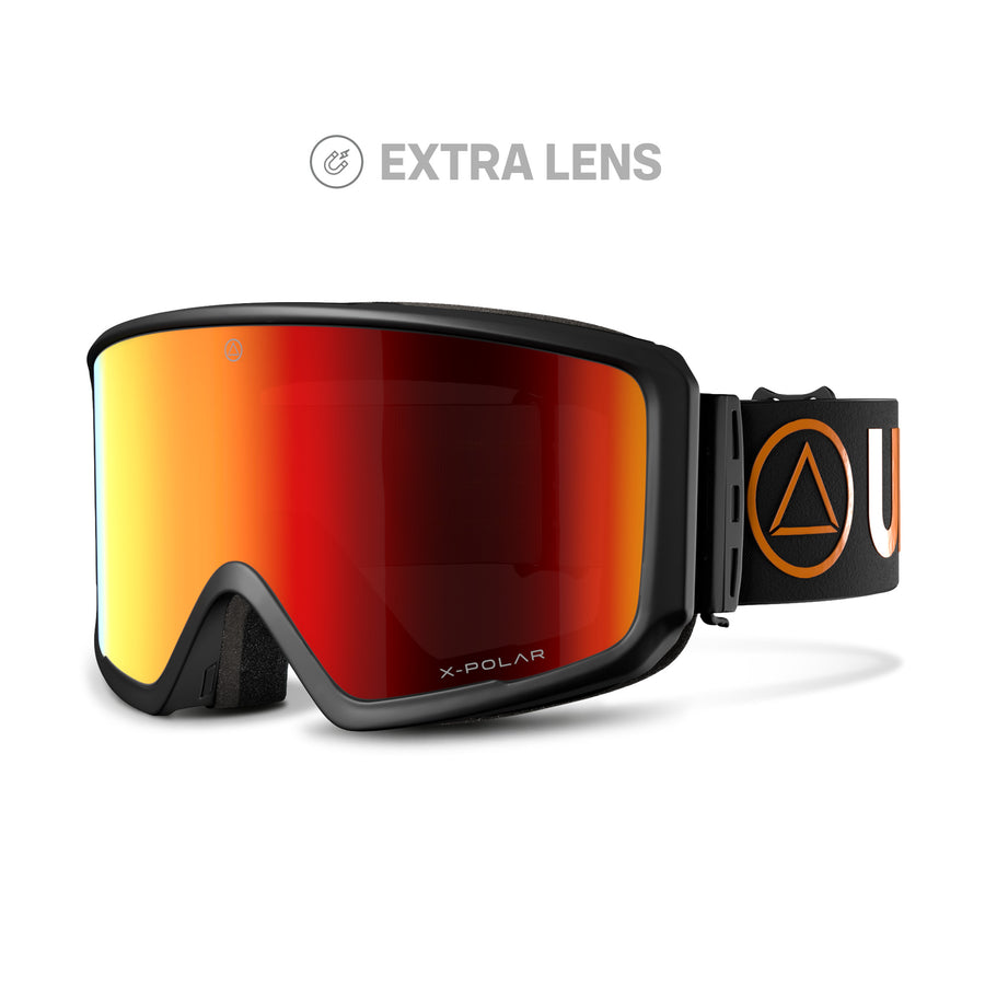 Ski and snowboard goggles for freeriders The Wall Black / Orange - Ski goggles and Blizzard Goggles for men and women