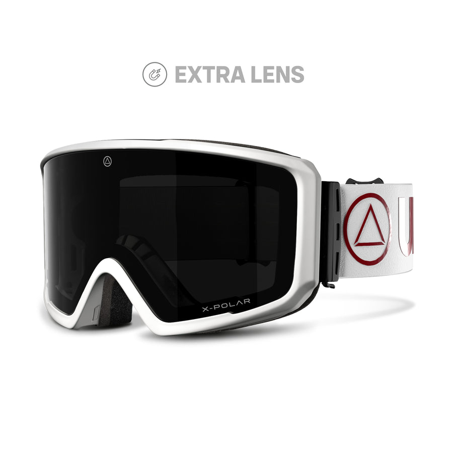 Ski and snowboard goggles for freeriders The Wall White / Black - Ski goggles and Blizzard Goggles for men and women