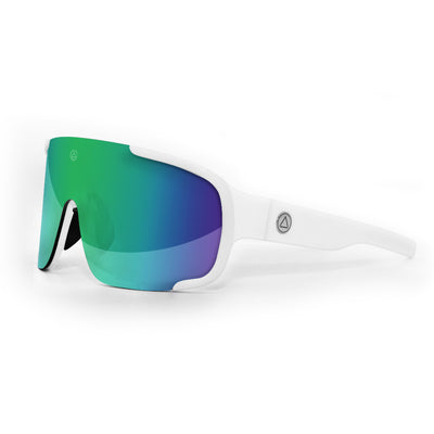Bolt White / Green Sunglasses