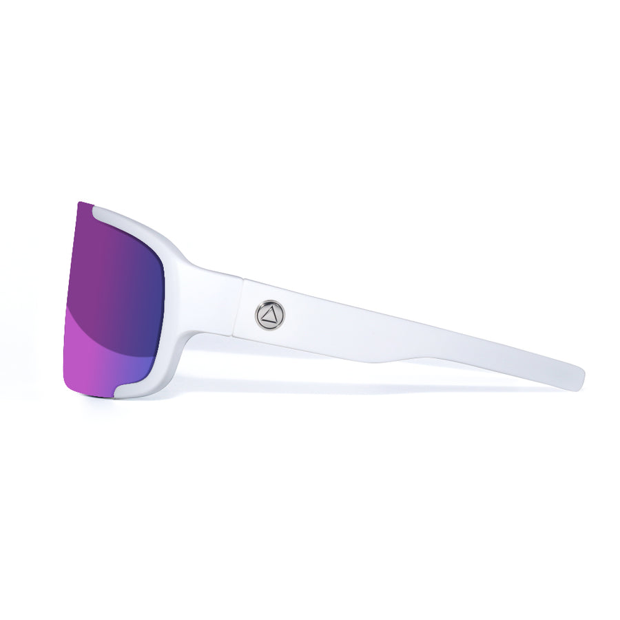 Bolt White / Purple Sunglasses