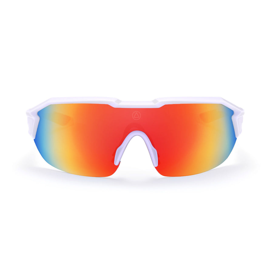 Sports cycling and running glasses for men and women Clarion White / Red