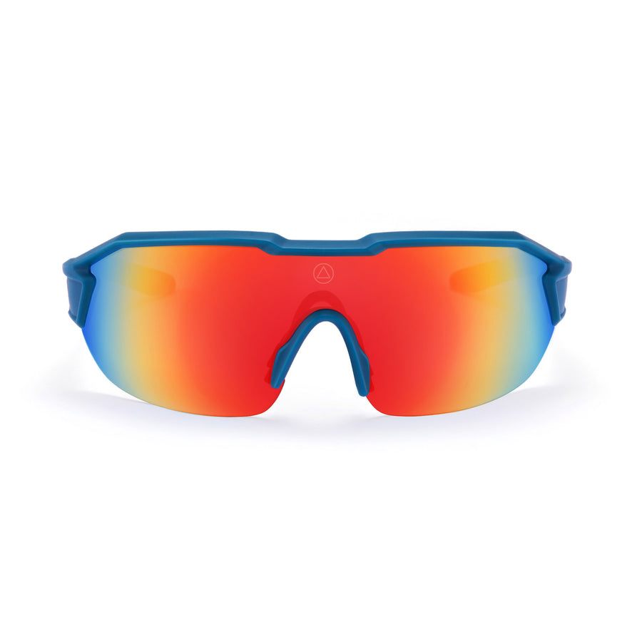 Sports cycling and running glasses for men and women Clarion Blue / Red