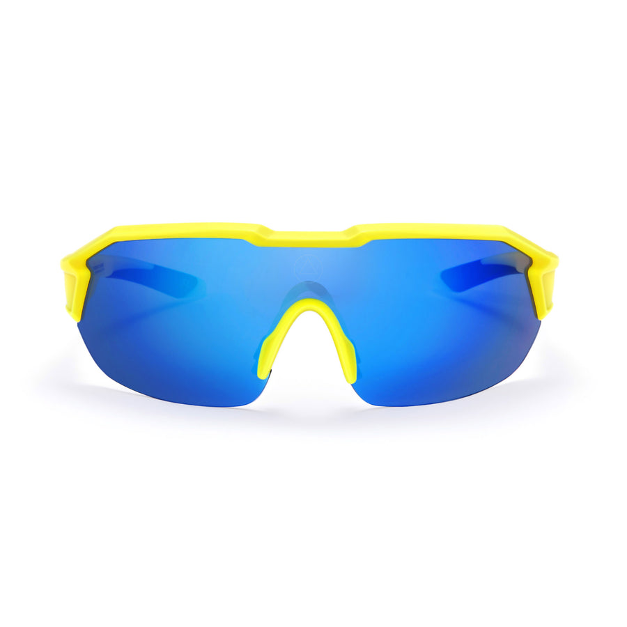 Sports cycling and running glasses for men and women Clarion Yellow / Blue