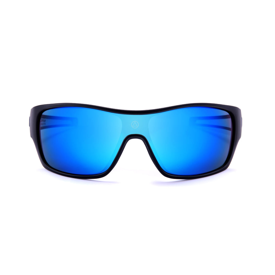 Sports cycling and running glasses for men and women Volcano Black / Blue